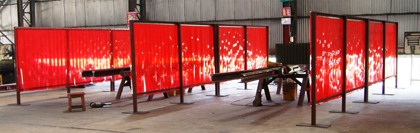The Welding Grade Strip Curtains Are Designed For Doors Enclosing Areas Where Is Being Performed Its Tinted Color Helps Reduce Incidental